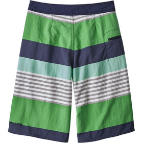 98cb95577c Patagonia Boys Wavefarer Boardshorts Fitz Stripe: Succulent Green ...